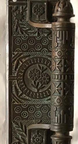 LARGE GOTHIC VICTORIAN ANTIQUE WINDSOR DOOR PULL / DOOR PLATE & HANDLE, 1880s