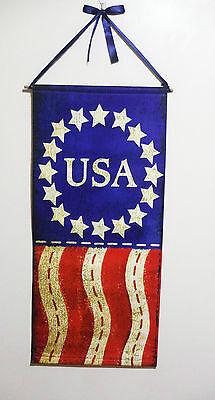 4TH OF JULY HANGING BANNER PATRIOTIC SUMMER DECOR USA FLAG 35