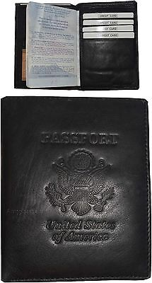 Lot of 2 New Leather Passport cover Unbranded Credit card ID case wallet BNWT