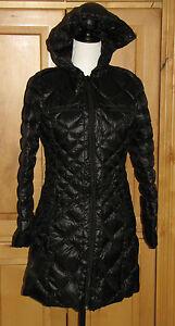 New BERNARDO Nordstrom Hooded Down Packable Jacket Coat Black S Small