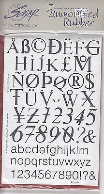 """Science letters Club Scrap Unmounted Rubber Stamp Sheet 8 1/2 x 6""""  Free Ship"""