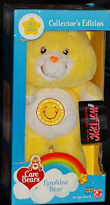 20th Anniversary FUNSHINE Care Bear Yellow Sun Collect MIB Stuffed Plush 10