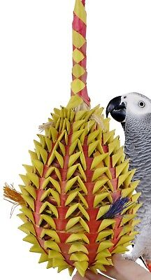 03367 X-Large Pineapple Foraging Bird Toy Cage Toys Cages Foraging Chew Shredder
