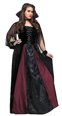 Goth Maiden Vampiress Vampire Adult Womens Female Costume Plus Size