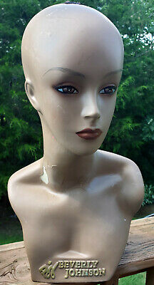 Adopt A Mannequin Head Female African American Beverly Johnson 18 Poor Cond