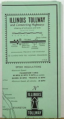 1959 Illinois Tollway   Connecting Highways Informational Brochure And Map B
