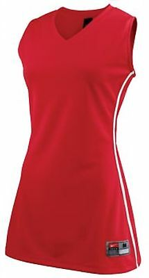 NWT NIKE WOMEN'S FRONT COURT BASKETBALL STOCK JERSEY SLEEVELESS SIZE XL RED $35