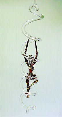 DNS Feng Shui Glas Spirale mit Ballerina Tänzerin Perlmutteffekt Top Qualität !