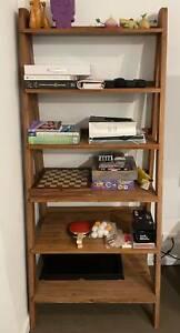 Wooden bookshelf $200.00