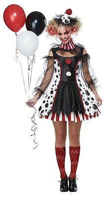Adult Creepy Twisted Clown Circus Costume  - Creepy Carnival Costumes