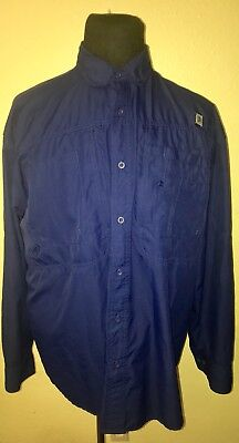 53fc3464 MENS REEL LEGENDS LONG SLEEVE BUTTON UP VENTED FISHING SHIRT XL~EXC  CONDITION!