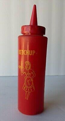 Vintage Ketchup Car Hop Squeeze Bottle Bi-cor Red Dispenser. Female Images