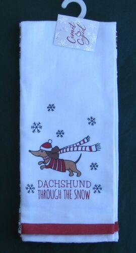 🎄BRAND NEW! Dachshund Through the Snow 2 Christmas Santa Holiday Kitchen Towels