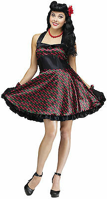 Cherry Bomb Pin Up Costume for Adults size S/M & M/L New by Fun World 123704 - M & M Costumes For Adults