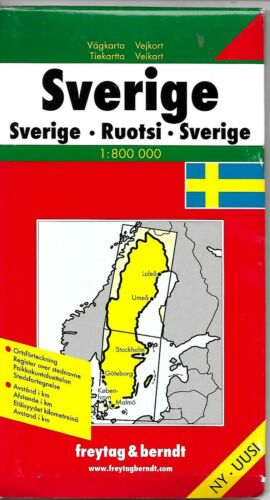 Map of Sweden, by Freytag & Berndt (2010)
