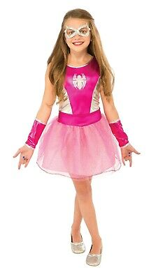 Spider-Man Spinne Mädchen Klassisch Kostüm Marvel M Sz 8-10 Pink Rubies 620033