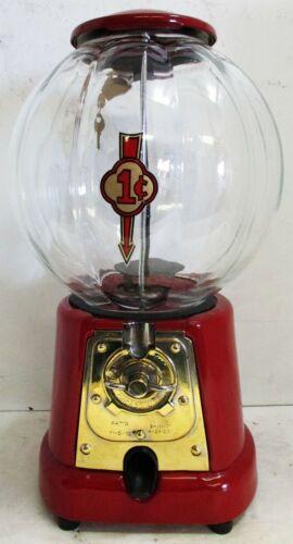 Advanced One Cent Peanut Dispenser Unique Glass Globe Circa 1923