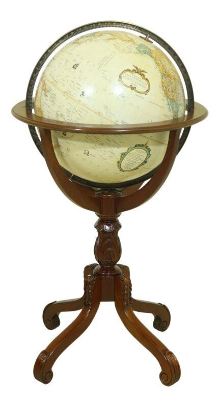 52269EC: REPLOGLE Revolving World Globe On Mahogany Stand