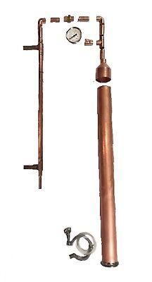 "DIY Beer Keg Kit 2"" Copper Pipe Moonshine Pot Still Distilling Column Tri Clamp"