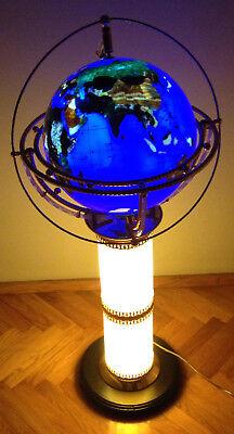 VINTAGE GEMSTONE GLOBE SPHERE FLOOR LAMP ALEXANDER (Floor Globe Sphere)