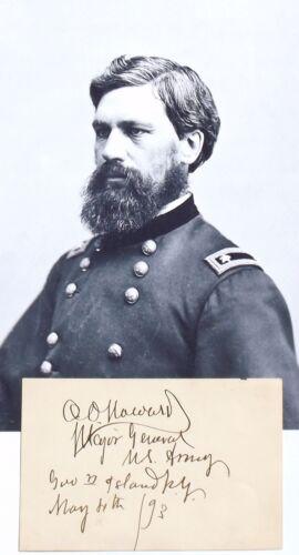 General Oliver O. Howard MOH Union General Civil War Autograph