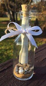 Message in a Bottle Gift / Favor - 50 ml Glass Bottle w/ Cork 4.25