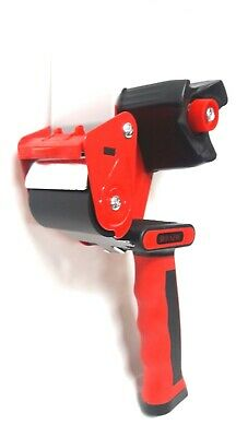 2 Rubber Grip Heavy Duty Portable Tape Gun Dispenser Packaging Seal Cutter-red