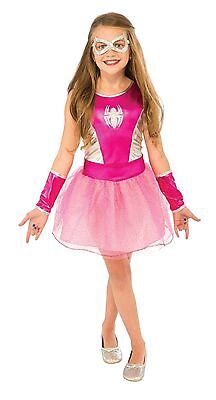 Pink Spider Girl Costume for Girls size 4-6 New by Rubies 620033