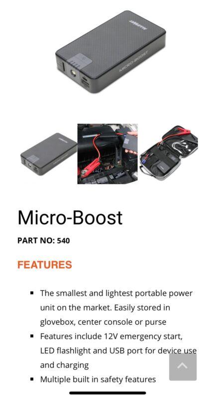 Allstart 540 Microboost Jump Starter - NEW!!!