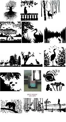 Choice ANIMAL NATURE Glass Enamel Fusing Decal Trees Fish Birds Deer Heron - Fusing Enamel