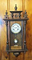 Antique Mini WERNER & DEPONIRT RA Vienna Regulator Wall Clock c. 1880s