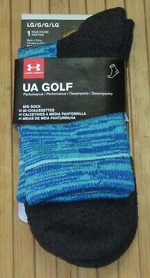 Under Armour Golf Performance Athletic Mid Sock Size Large (9 -12.5) Men/Women