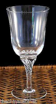 """* Set of 4 * SASAKI CRYSTAL HAWTHORNE CLEAR -- 7"""" WATER GOBLETS GLASSES"""