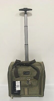 NEW NICOLE MILLER CAMERON GREEN UNDER SEAT BAG WHEELED LUGGAGE CARRY ON $240