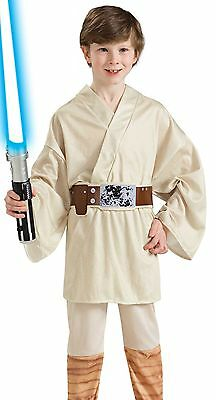 Jedi Costume Boys Child Star Wars Clone Luke Skywalker  - S 4-6, M 8-10, L 10-12