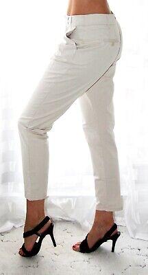 Beige Kleid Hose (Zara Hose M 38 beige weiß Jeans Sommer Yoga Leggings Baggy Boho Kleid Capri)