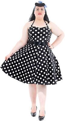 Hearts & Roses POLKA DOTS 50s Petticoat NECKHOLDER Kleid - PLUS SIZE Rockabilly - Plus Size Petticoat