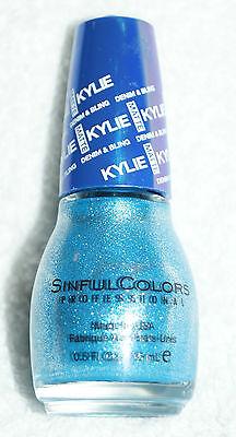 Sinful Colors Kylie Jenner Cosmetics Nagellack Kustom Fit blau USA demin & bling ()