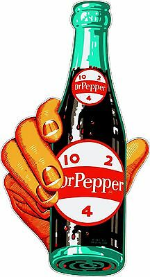 Dr Pepper 10 2 4  Bottle in Hand  Wide Bumper Sticker Decal