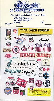 Jl Innovative Design Decal Ho Scale  283 Planes Trains   Industrial Posters Sign