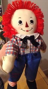 RUSS BERRIE BUTTON EYE RAGGEDY ANDY 16""