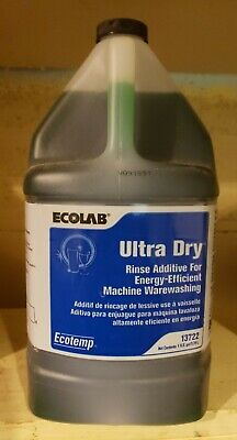Ecolab Ecotemp Ultra Dry. Industrial Dishwashing Chemical Fuild Brand New