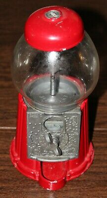 Vintage 1985 Carousel Bubble Gum Machine Metal & Glass 9in Tall N0 91-PETITE