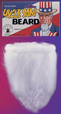 Uncle Sam Children Or Adults Costume Beard With Elastic Band Halloween Accessory