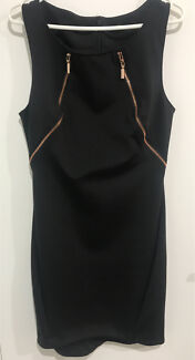 Potmans size 12 one piece black dress