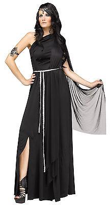 Adult Sexy Roman Greek Dark Goddess Toga Costume](Toga Goddess Costume)