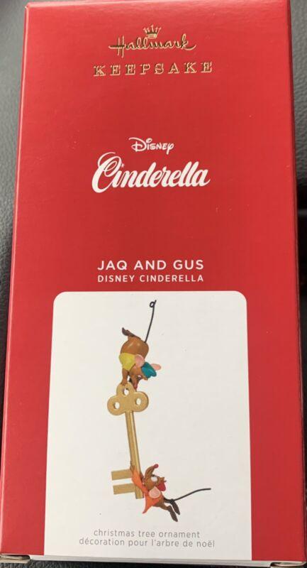 Hallmark Disney Cinderella Jaq and Gus With Key Ornament 2021 - Unopened Box