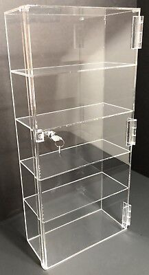 Acrylic Counter Top Display Case 12x 4.5 X23.5locking Cabinet Showcase Boxes