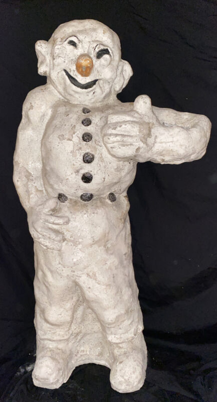 Old 1940's Snowman Snow Man Department Store Display Christmas Statue Sculpture