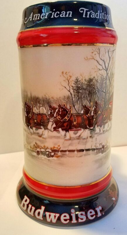 Budweiser 1990 Holiday Stein CS112 Mug